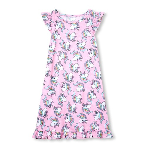 Girls Unicorn Print Nightgown
