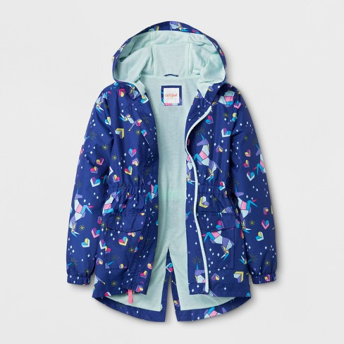 Girls' Unicorn Printed Windbreaker Jacket