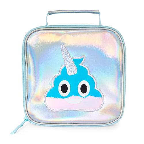 Girls Unicorn Swirl Emoji Glitter Iridescent Lunch Box