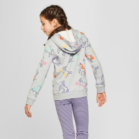 Girls' Unicorn Zip