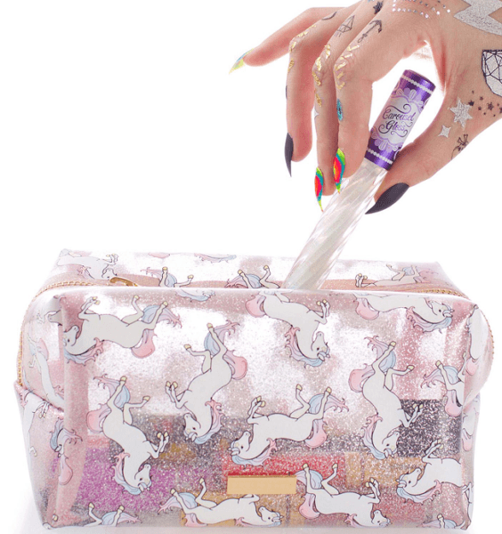 Glitter Cosmetics Pouch Unicorn Makeup Bag