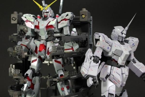 Gundam Guy  Mg 1 100 Unicorn Gundam Hd Color + Ms Cage