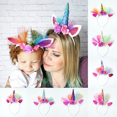 Halloween Party Baby Girl Women Family Matching Headwear Flower