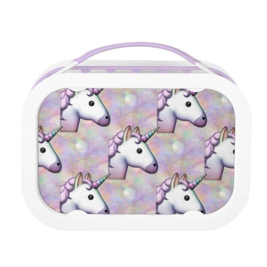 Hologram Unicorn Emoji Lunchbox Lunch Box