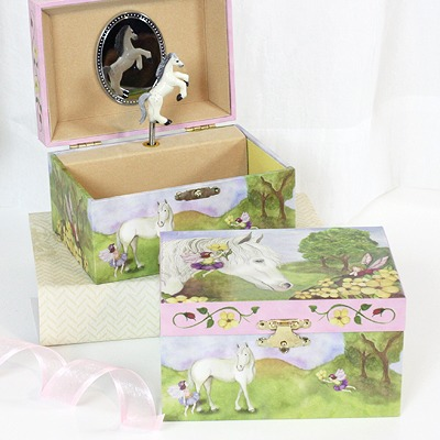 Horse And Fairies Jewelry Box For Girls