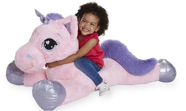 Hot  $29 99 (reg $50) Animal Alley Jumbo Stuffed Unicorn + Free