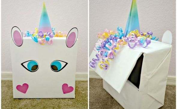 How Adorable Is This Gift Box   Valentine's Day Diy  Unicorn
