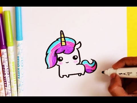 How To Draw A Cute Kawaii Unicorn