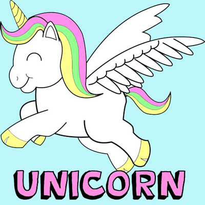 How To Draw Cute Chibi Cartoon Unicorns With Easy Step By Step