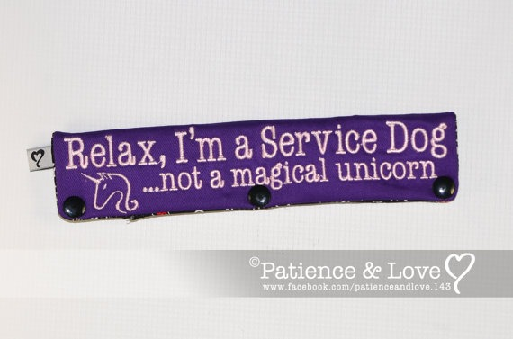 I'm A Service Dog, Not A Magical Unicorn Leash Sleeve, Snap