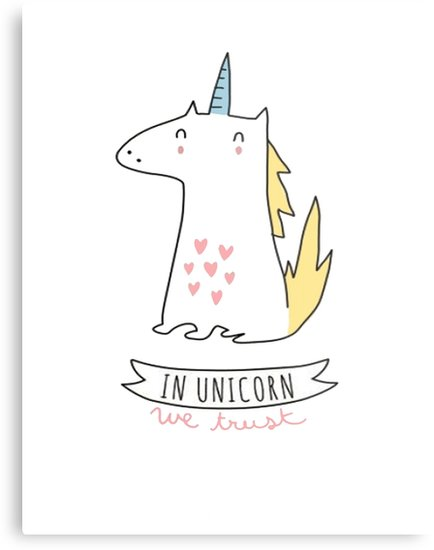 In Unicorns We Trust  Metal Prints By Mira Images World