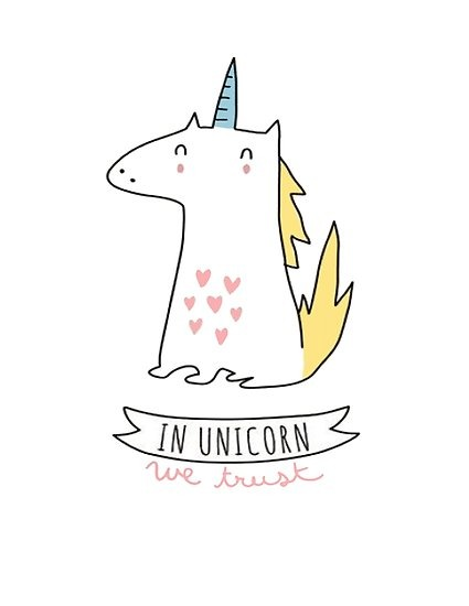 In Unicorns We Trust  Posters By Mira Images World