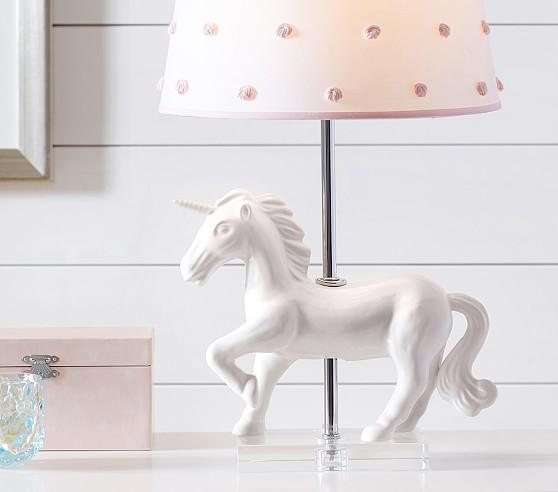 Ivory Unicorn Table Lamp