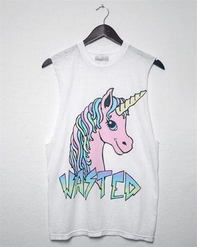 Jac Vanek  Unicorn Pastel Wasted Burnout Unisex Muscle Tee  $39 00