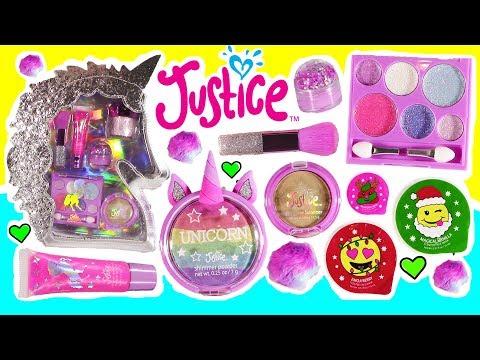 Justice Haul! Magical Unicorn Makeup Kit! Emoji Cream! Glitter
