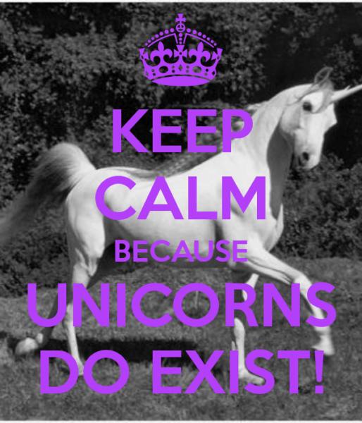 Keep Calm Because Unicorns Do Exist! By Moi
