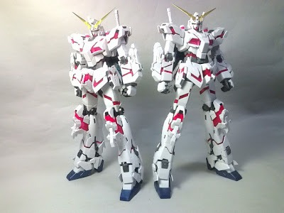 Kit Review  Mg Unicorn Gundam Hd Color Ver  + Ms Cage