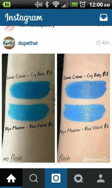 Lime Crime Cry Baby Dupe