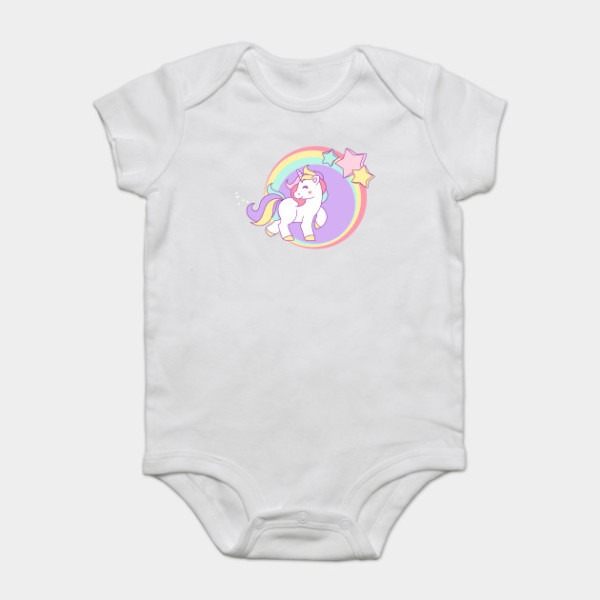 Little Pastel Unicorn With Stars