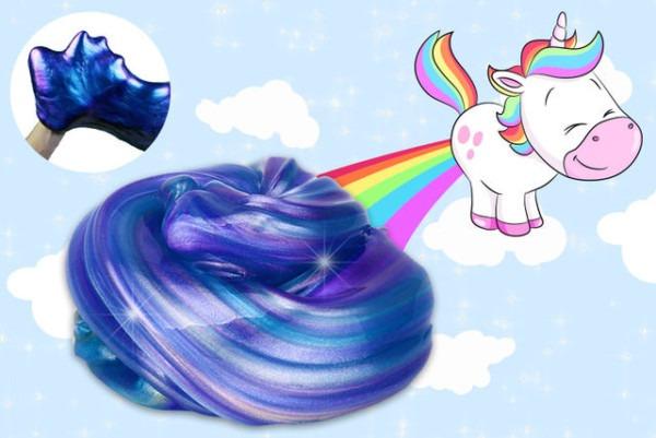 Magical Rainbow Unicorn Slime Poop