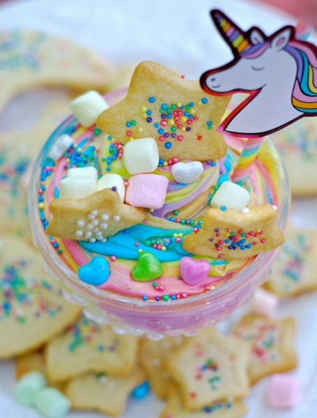 Magical Unicorn Cheesecake Swirl Dip