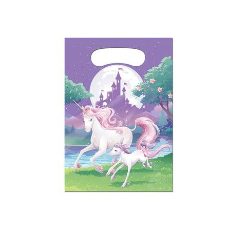 Majestic Unicorn  Lootbags 8 Pk Party Supplies Canada