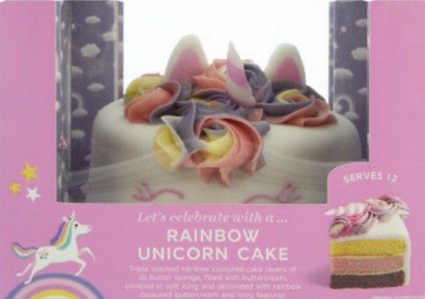 Marks And Spencer Unicorn Cake Serves Up To 36
