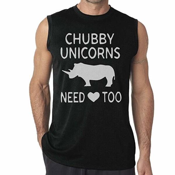 Men's Chubby Unicorn Need Love Too Sleeveless T