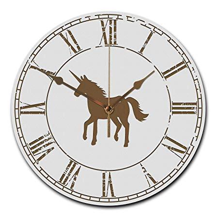 Mr & Mrs Panda Wall Clock Round Unicorn
