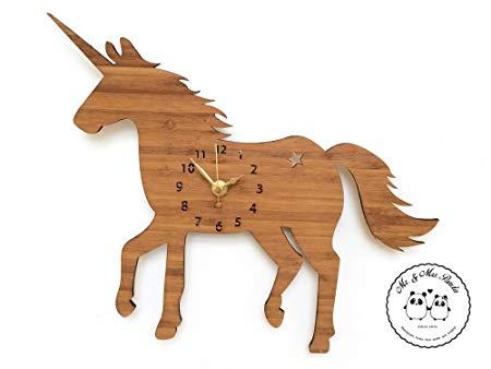 Mr & Mrs Panda Wall Clock Unicorn