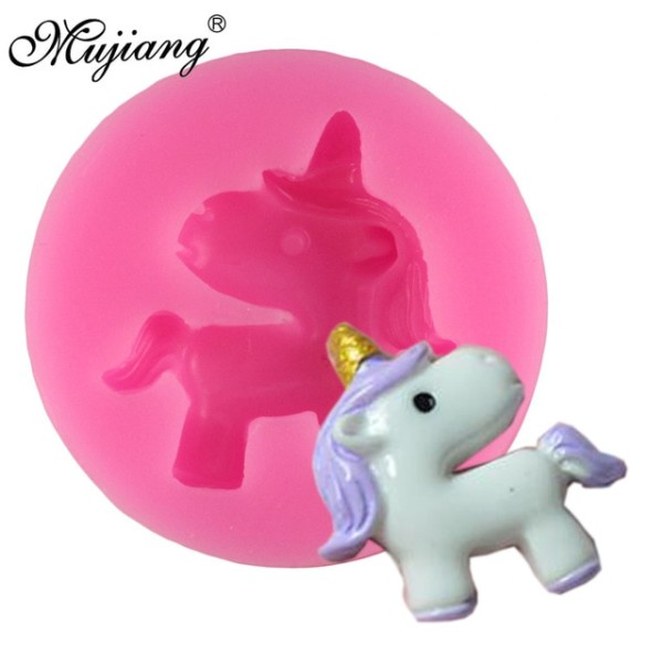 Mujiang 3d Mini Unicorn Silicone Mold Baby Birthday Cake