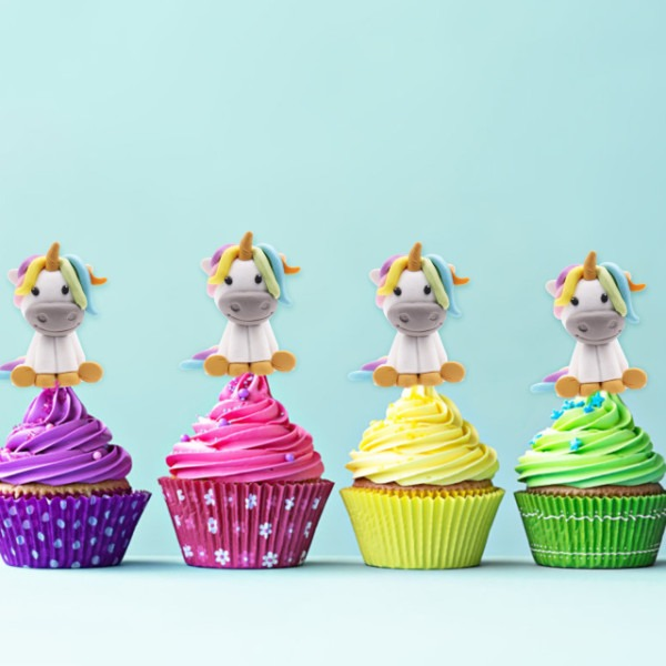 New Baby Shower ,kids Party Decoration Soft Clay Rainbow,unicorn