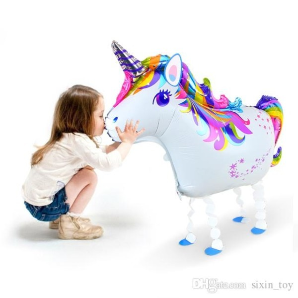 New Big Unicorn Walking Balloon Animal Helium Cartoon Theme