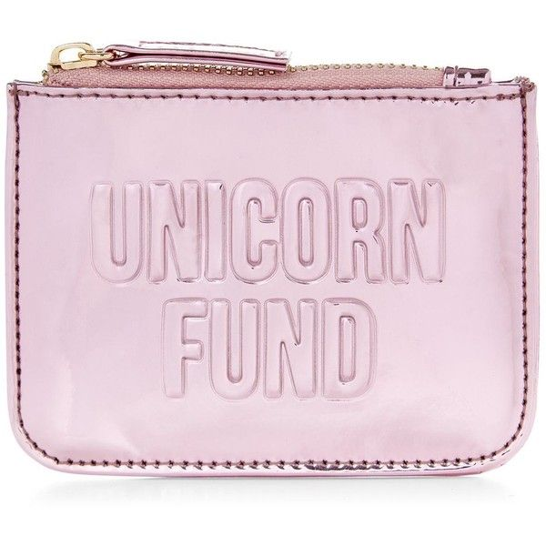 New Look Pink Unicorn Fund Zip Top Coin Purse ($7 13) ❤ Liked On