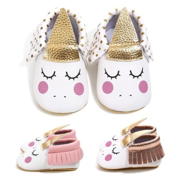 New Unicorn Baby Shoes Pu Leather Gold Soft Sole Baby Brand Shoes