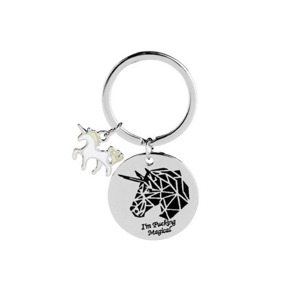 Nieuwe 24 Pcs Lot Anime Horse Toy Cute Metal Unicorn Key Chain