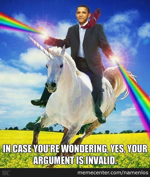 Obama Shooting Rainbows And Riding A Unicorn By Namenlos