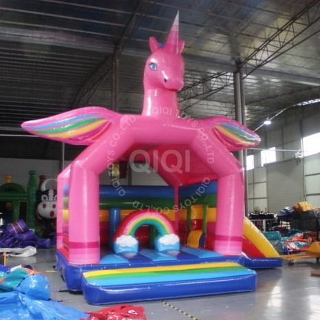 Outdoor Unicorn Inflatable Bouncy Castle  Kids Inflatable Bounce