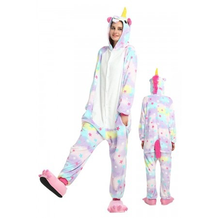 Pastel Dream Unicorn Kigurumi Onesie Pajamas Animal Costumes For