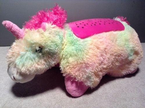 Pillow Pets Dream Lites Plush Rainbow Unicorn Nightlite Stuffed