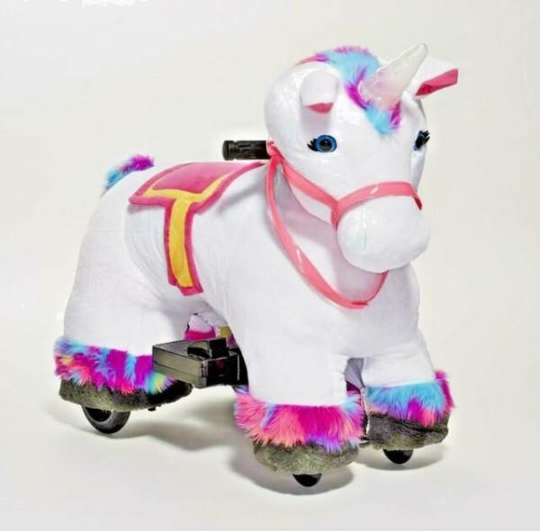 Plush Unicorn Toy Ride On Rainbow Willow Stable Buddies Dynacraft