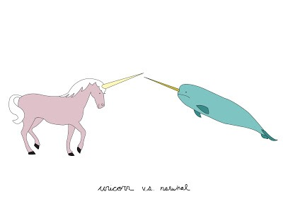 Pretty Ponderings  Unicorn Vs  Narwhal