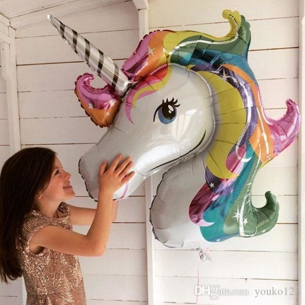 Rainbow Baoli Horse Aluminum Foam Big Balloon Cartoon Katie Cat