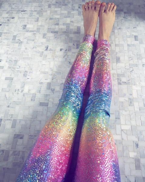 Rainbow Leggings, Pastel Leggings, Yoga Pants Women, Womens Yoga