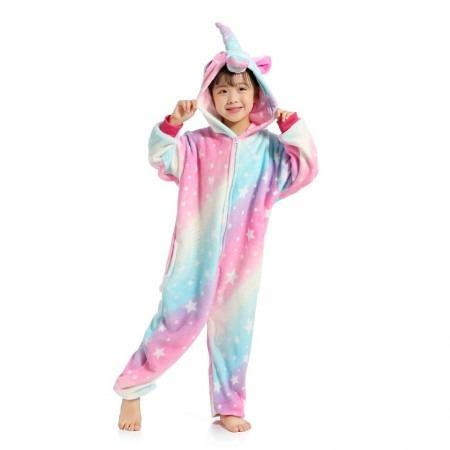 Rainbow Star Unicorn Onesie Pajamas For Kids Boys & Girls, The