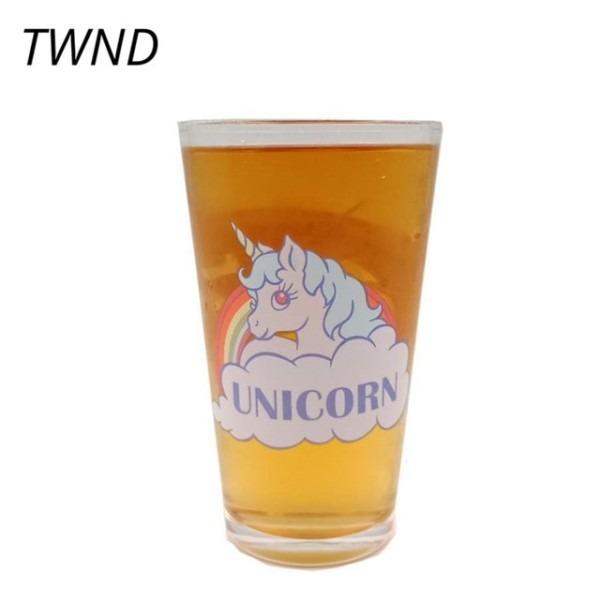 Rainbow Unicorn Cold Color Change Beer Glass Summer Ice Coffee Tea