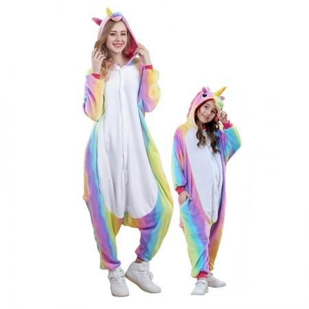 Rainbow Unicorn Onesies Pajamas For Adults & Kids