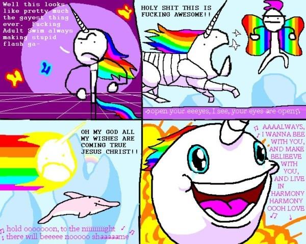 Robot Unicorn Attack In My Heart