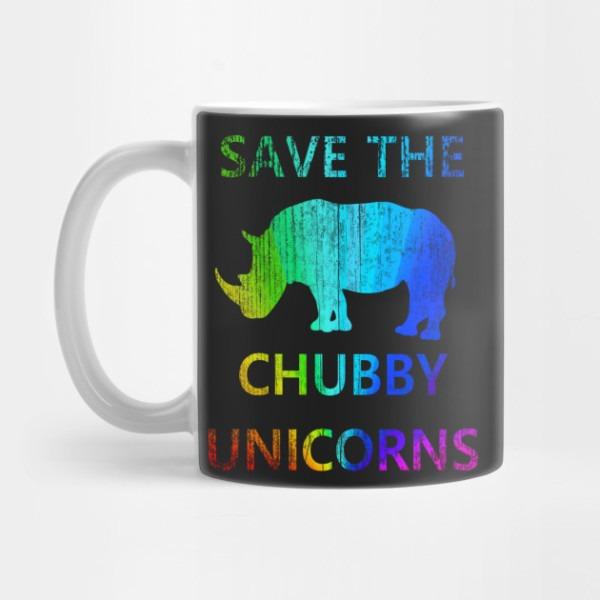 Save The Chubby Unicorns Rainbow