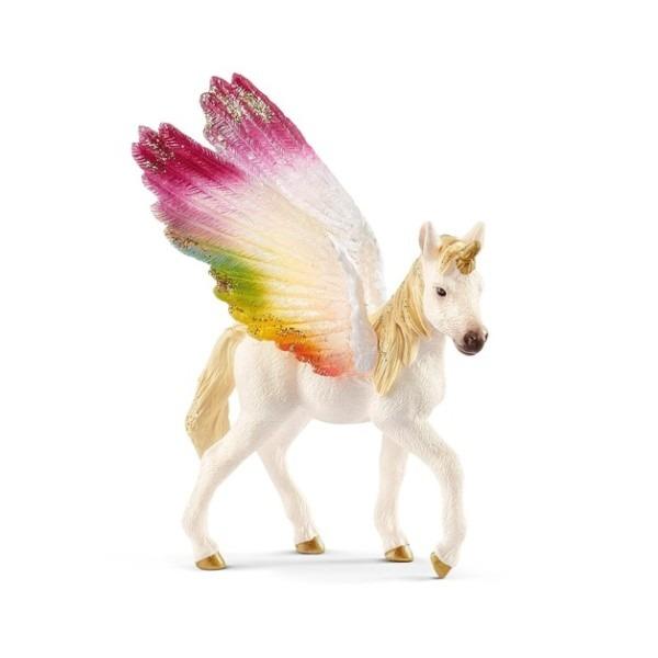 Schleich   Winged Rainbow Unicorn Foal